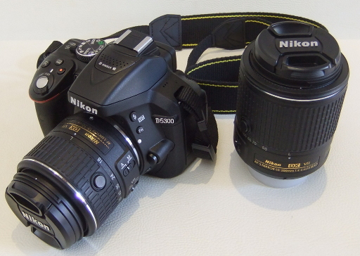 Nikon D5300 with Nikkor AF-S DX 18-55mm VR II and Nikkor AF-S DX 55-200mm VR II lenses
