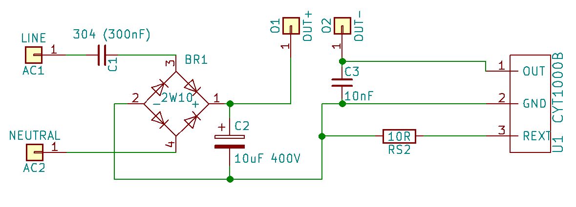 CYT1000B LED light schematic