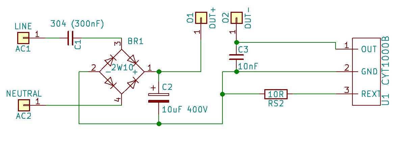 CYT1000B LED light schematic