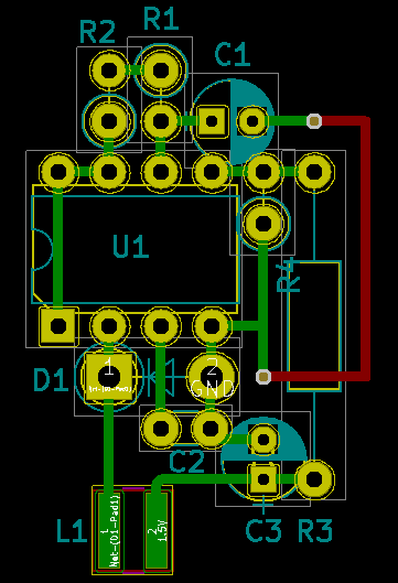 MC34063A - 3.7 to 1.5 V buck converter PCB layout