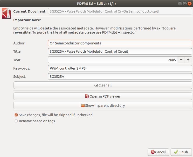 PDFMtEd - PDF metadata editor